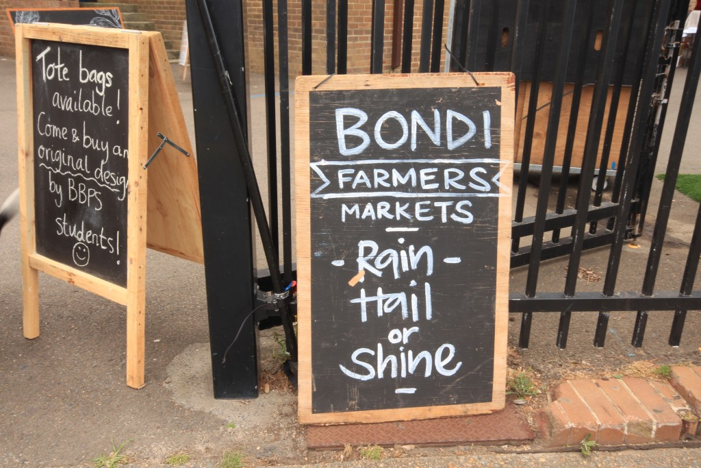 Rain, hail or shine – Bondi Farmers Markets are a community staple.